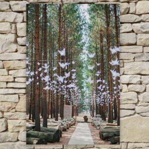 Location déco Mariage - Tableau forêt