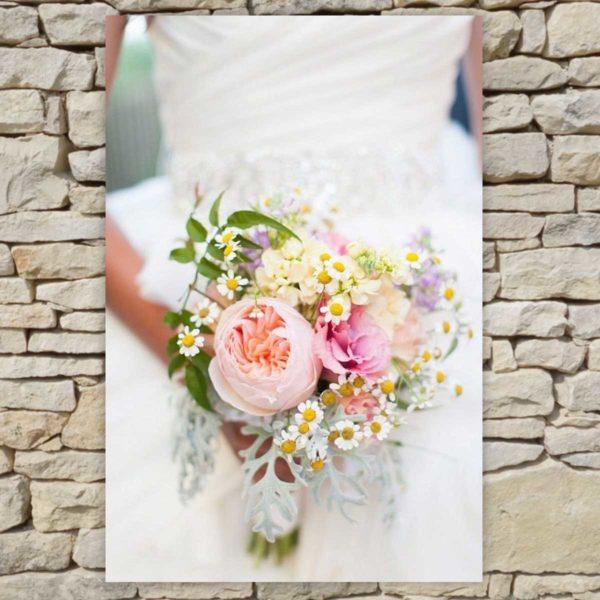 Location déco Mariage - Tableau bouquet